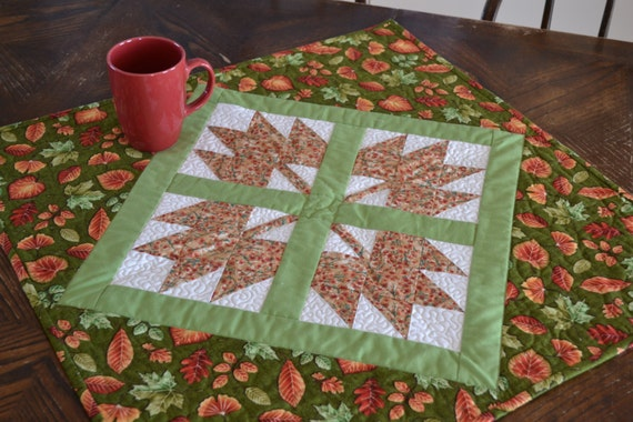 Thanksgiving Table Runner Quilted Table Runner Autumn Decor