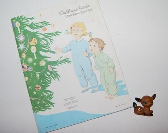 Vintage Christmas Carol Song Book 1960s
