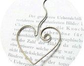 Lovely Heart Bookmark - adorable metal brass heart bookmark