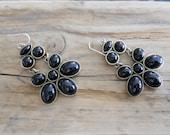 Black Chandelier Statement Earrings