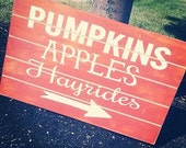 Pumpkins, Apples, Hayrides!!  Perfect Fall decor for your home!