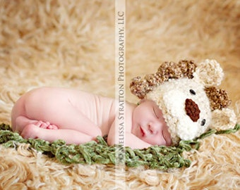 Newborn baby lion hat   crochet Newborn photo props photography  girl boy