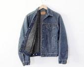 1970s Levis flannel lined jean jacket