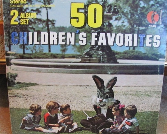 "Vintage K-Tel ""50 Children's Favorites"" Songs Vinyl Record Album - 2 records - 1973 - Children - Sing Along - Singing"