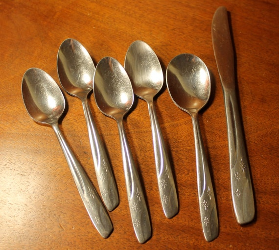 Vintage Stainless Flatware From Thor In Starlet Pattern