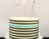CAMPING Cake / Cupcake Toppers