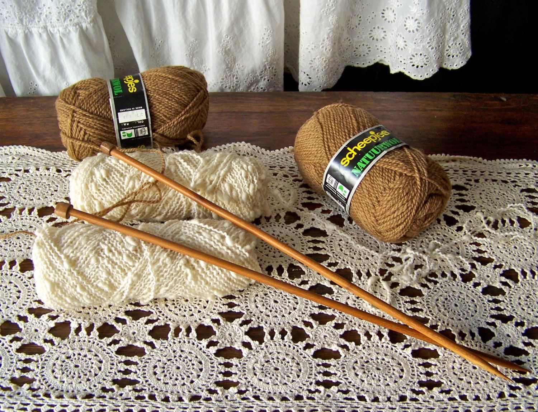 Vintage Knitting Needles : Vintage wood knitting needles size by cynthiasattic