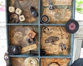 FOR THE BIRDS, Original Art Assemblage from Vintage Junk and Found Objects
