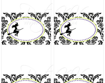 "INSTANT DOWNLOAD - Blank Table Tents - ""Bewitched"" Collection"