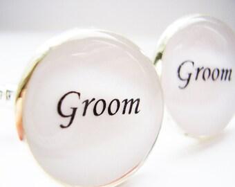 Groom Cufflinks, Cufflinks for Groom,  Cufflinks for the Groom, Cufflinks for Wedding, Wedding souvenir, Wedding gift, Cufflinks - wedding