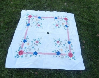 Vintage Patio Table Tablecloth