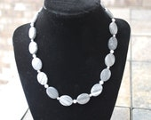 Gray and Black Marble Necklace