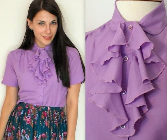 Ruffle Purple Blouse 15