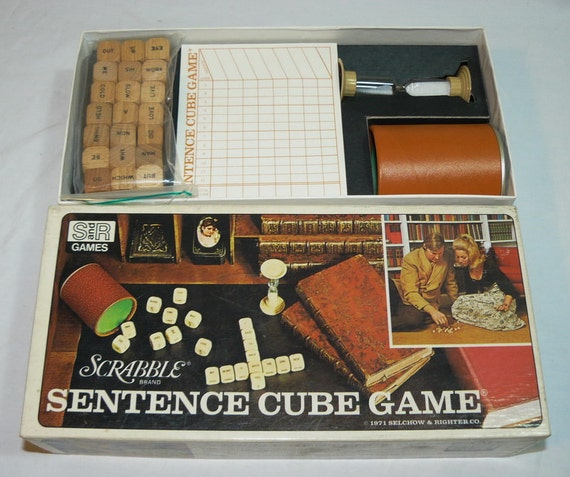 1971 SCRABBLE Sentence CUBE Game Word Combination Selchow