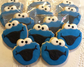 Cookie Monster cookie favors