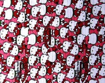 Last item little more than Half yard  Hello kitty face printed super cute fabric