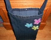 Small Denim Tote Bag