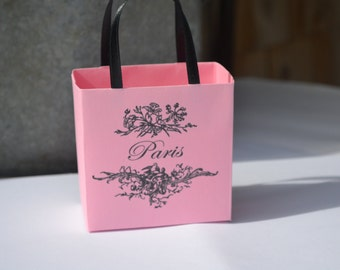 Paris party favor bags in pink for any occasion