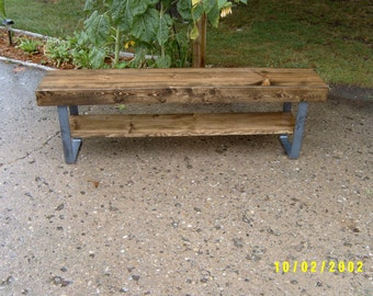 Bench, Wooden Bench, Coffee Table, Industrial And Steel, Dining Bench, Furniture, Metal Legs, Entry Bench, Hallway Bench, TV Stand