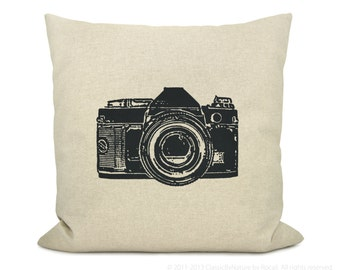 Personalized throw pillow case | Decorative pillow cover with custom options of urban print, ink color and fabric | Modern Industrial Decor