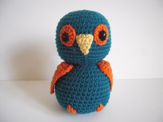 Crocheted Stuffed Amigurumi Owl - RESERVED FOR PAVITHRA