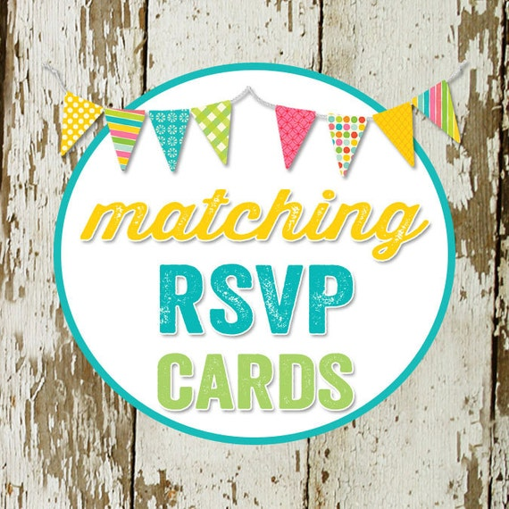 RSVP CARD to match any design for baby shower or party, digital, DIY printable file