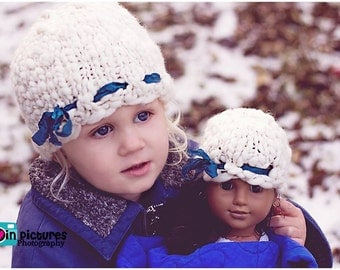 American Girl Doll Hat PATTERN-in Your Handspun Yarn, Also Preemie Handspun Hat Pattern