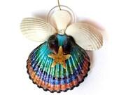 Pretty as a Peacock Angel Ornament