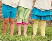Lollipop Leggings: Leggings PDF Sewing Pattern, Ruffled Leggings, Skirted Leggings