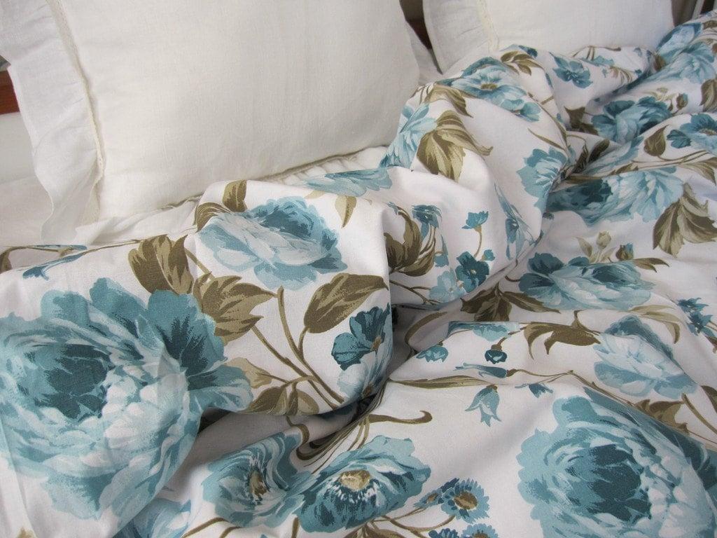 zoom blue shabby chic bedding