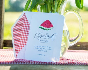 Watermelon Picnic Collection: Printable Invitation