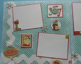 Christmas scrapbook album 12 by 12 pre made