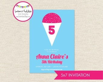 Snow Cone Birthday, Snow Cone Birthday Invitation, Snow Ball Printables, Snow Cone Birthday Decorations, Lauren Haddox Designs