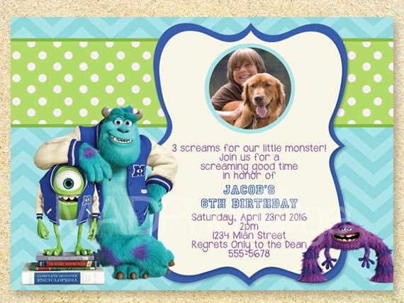 items similar to monsters university birthday invitation monsters baby shower invitations