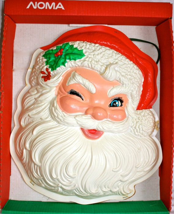 Vintage rare santa clause face wall light 19 by gifthorsevintage