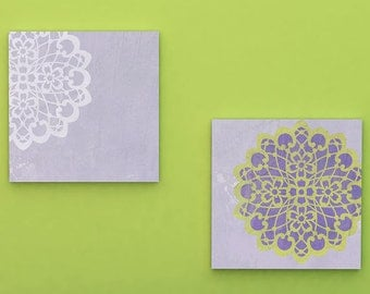 Wall Art Motif Stencil Lace Catherine Doily Stencil for DIY Wall Decor