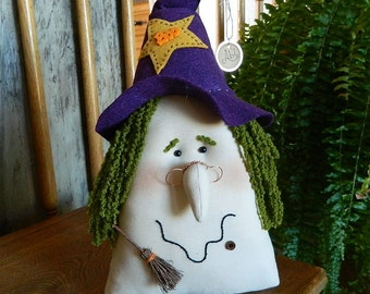 "Witch Pillow/Doll ~ Abi the Witch ~ 13"" Tall"