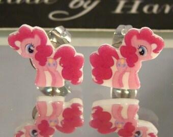 Pinkie Pie My Little Pony Friendship is Magic Cartoon Stud Earrings - surgical steel