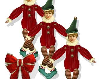 Christmas holiday  tree ornament stocking stuffer DIY Elves