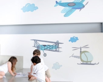 Fancy Flight Eco-Friendly Reusable Fabric Wall Decals by Pop & Lolli