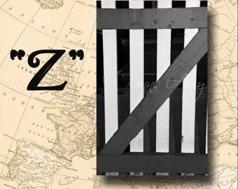 Letter Z Alphabet Photography Black and White or Sepia 4 x 6 Photo Letter Unframed