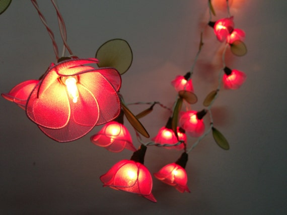 20 Bulbs Sweet Pink flower string lights Garland for party and
