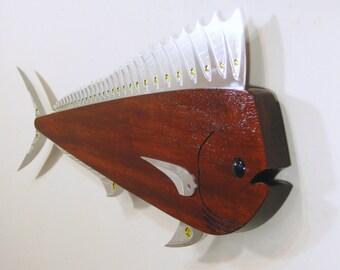 Mahi Mahi Wall Piece a Contemporary Sculpture