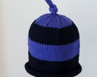 PDF PATTERN: Big Bee Hand Knit Striped Hat From The Bee Collection For Babies, Toddlers & Children