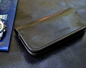 Luxury iPhone 6 case and wallet- Italian leather