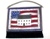 White House Americana Tapestry, Dollhouse Miniature 1/12 Scale, Hand Made in the USA