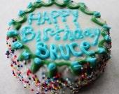 Gluten Free Individual Dog Birthday Cake-Dog Pawty-Homemade Gourmet Dog Treats-All Natural and Organic Ingredients-Po's Bag of Bones Bakery