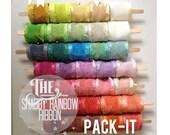 Shabby Organza Rainbow Ribbons