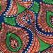 "Last Piece- Retro Sway : Orange, Green Blue BATIK Ankara, African wax print fabric /46""x 34""/ Tribal African Fashion Supplies"