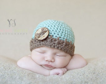 Baby Boy Hat, Newborn Hat, Infant Hat, Baby Boy Coming Home,Cap, Baby Shower Gift, Photo Prop, Baby Boy Clothes